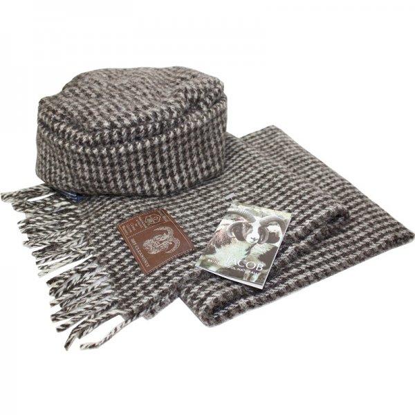 ジェイコブウール 女性用帽子とマフラーのセット
