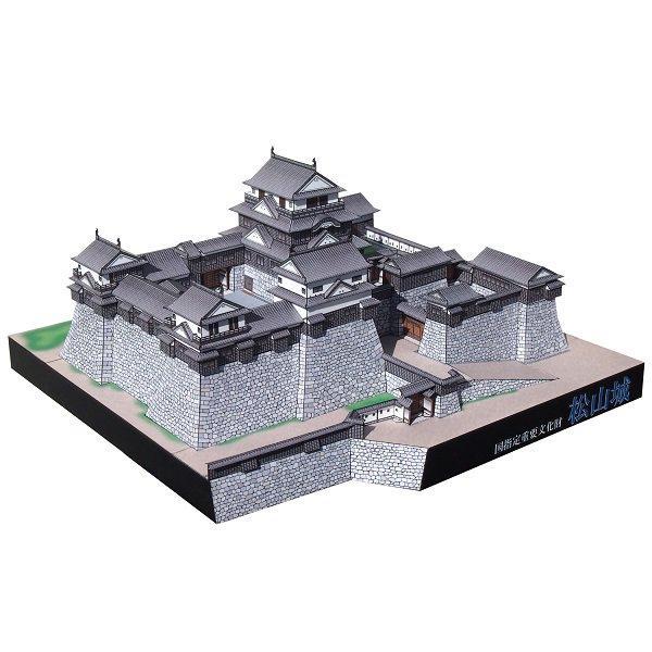 ファセット/ペーパークラフト 1/300 松山城
