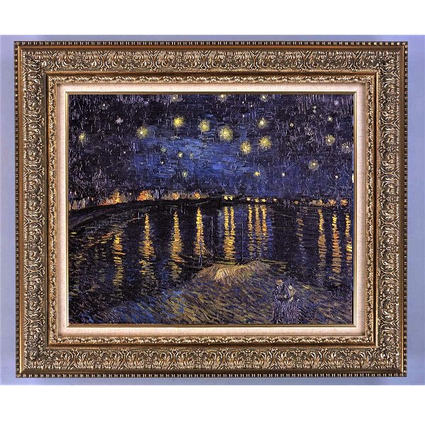 プリハード複製画/フィンセント・ファン・ゴッホ「ローヌ川の星月夜(星降る夜)」