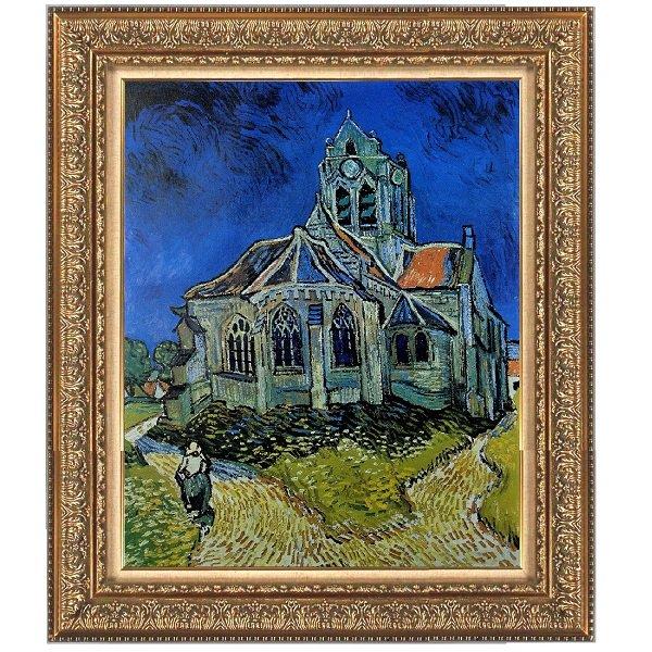 プリハード複製画/フィンセント・ファン・ゴッホ「オーヴェールの教会」