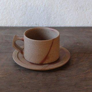 カップ&ソーサー:プレーン (ヒダスキ)