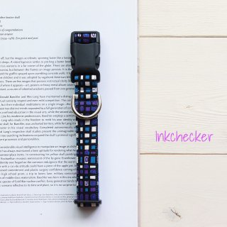 Inkchecker Collar<br>Blue<br>Size S