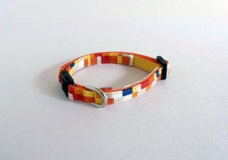 Pixel collar<br>Size SS<br>Yellow