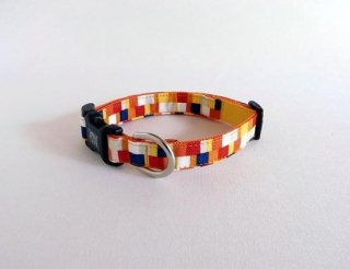 Pixel collar<br>Size M<br>Yellow
