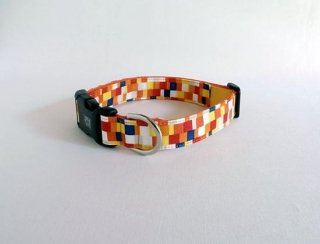 Pixel collar<br>Size L<br>Yellow