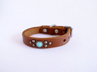 HTC collar<br> Turquoise (Brown)<br>Size S-8in