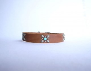 HTC collar<br> Turquoise (Brown)<br>Size L-18in