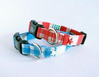 Checkborder Collar<br>Size S