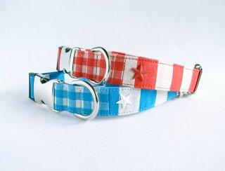 Checkborder Collar<br>Size L