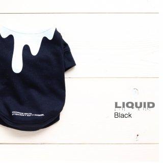Liquid  T-Shirts<br>Black<br>Size SS ~ XXL