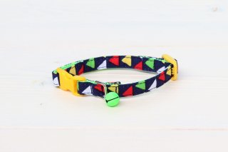 Cat collar<br>Zigzag<br> [Navy]