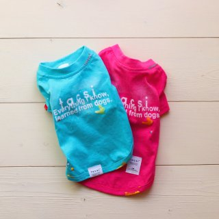 Text aging T-Shirts <br>Blue / Pink<br>Size S / M / L