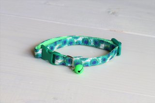Cat collar<br>LIBERTY Sunbeam<br>Green