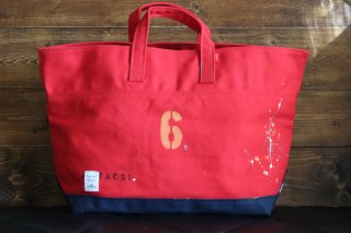 "CARRY BAG <br>CottonTote  ""No 6""<br>Red<br>"