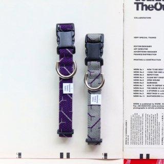 Arne Jacobsen<br> Vinkl Collar<br>Purple / Grey<br>Size S