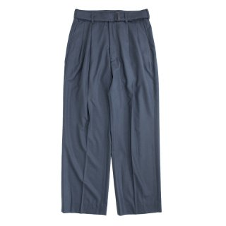 BELTED 2TUCK WIDE TROUSERS