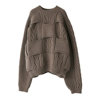 CROSSING CABLE CREWKNIT