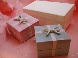 結びの小箱・ピンク&ブルー(化粧箱入り)