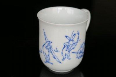 鳥獣戯画弓矢マグカップ
