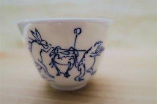 鳥獣戯画壺かき汲出碗