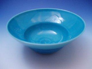 浅黄青海波かぶと鉢