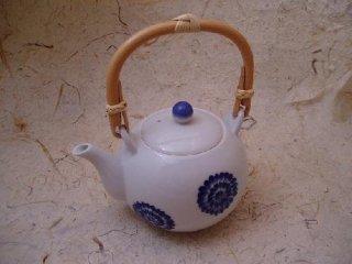 染付菊絵石瓶(小)
