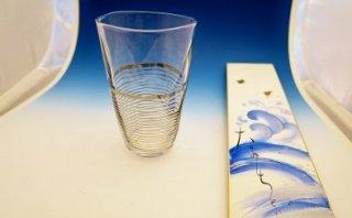 ガラスプラチナ彩フリーカップ