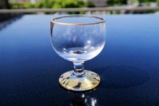ガラス金箔高台杯