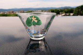 ガラス五山の送り火小鉢(大文字)