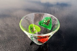 ガラス五山の送り火小鉢(妙法)