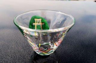 ガラス五山の送り火小鉢(鳥居)