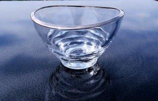 ガラスプラチナ波彫小鉢
