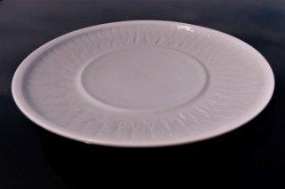 青白磁飛鉋七寸皿