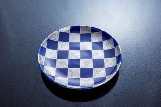 呉須濃市松7寸皿