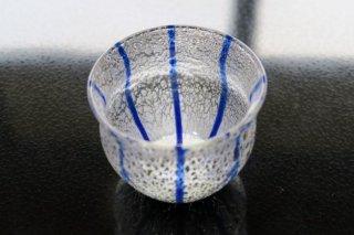 ガラス銀箔散し瑠璃筋小鉢