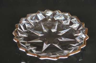 ガラスプラチナ結晶文皿