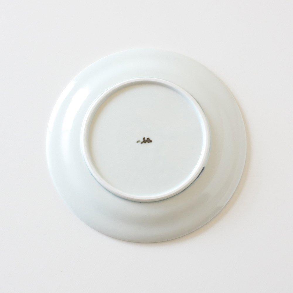 藍色花模様の小皿