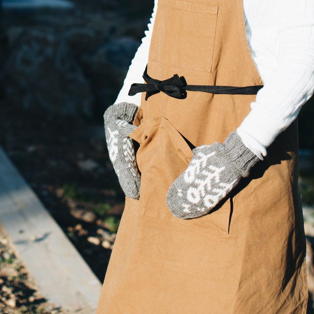 noir lapin 花とちょうのミトン (グレー) 2