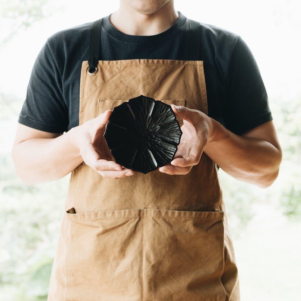 濱端弘太 花菓子皿(ブラック)3a