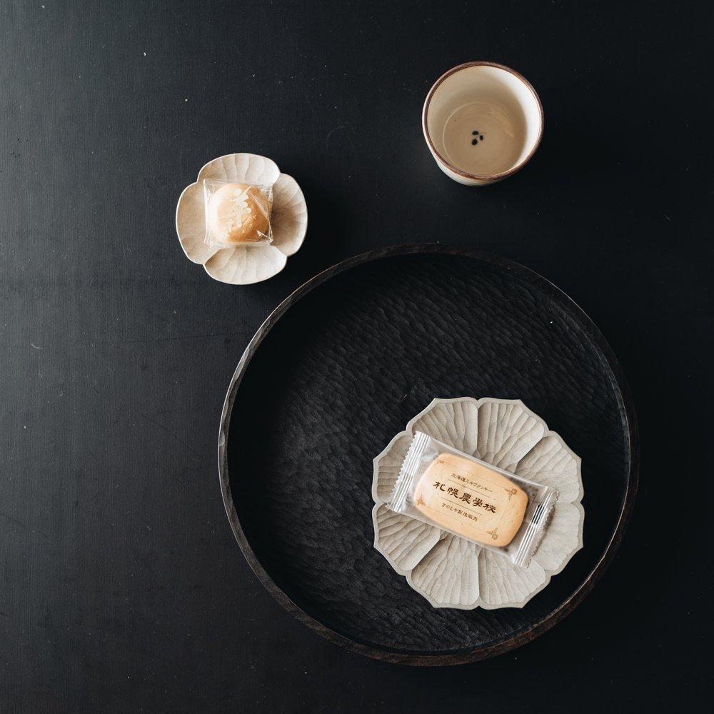 濱端弘太 花菓子皿(グレー)3b