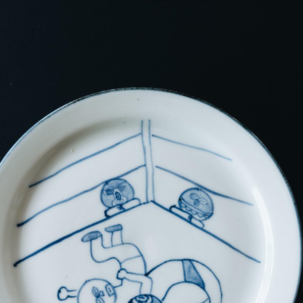 高橋直樹 プロレス皿 『ジャーマンスープレックス』3