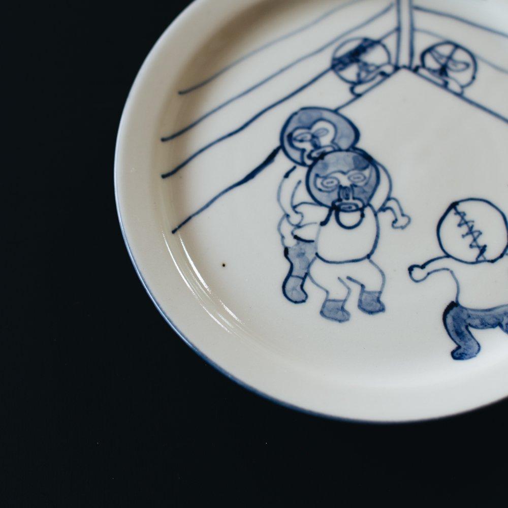 高橋直樹 プロレス皿 『はがいじめ』9