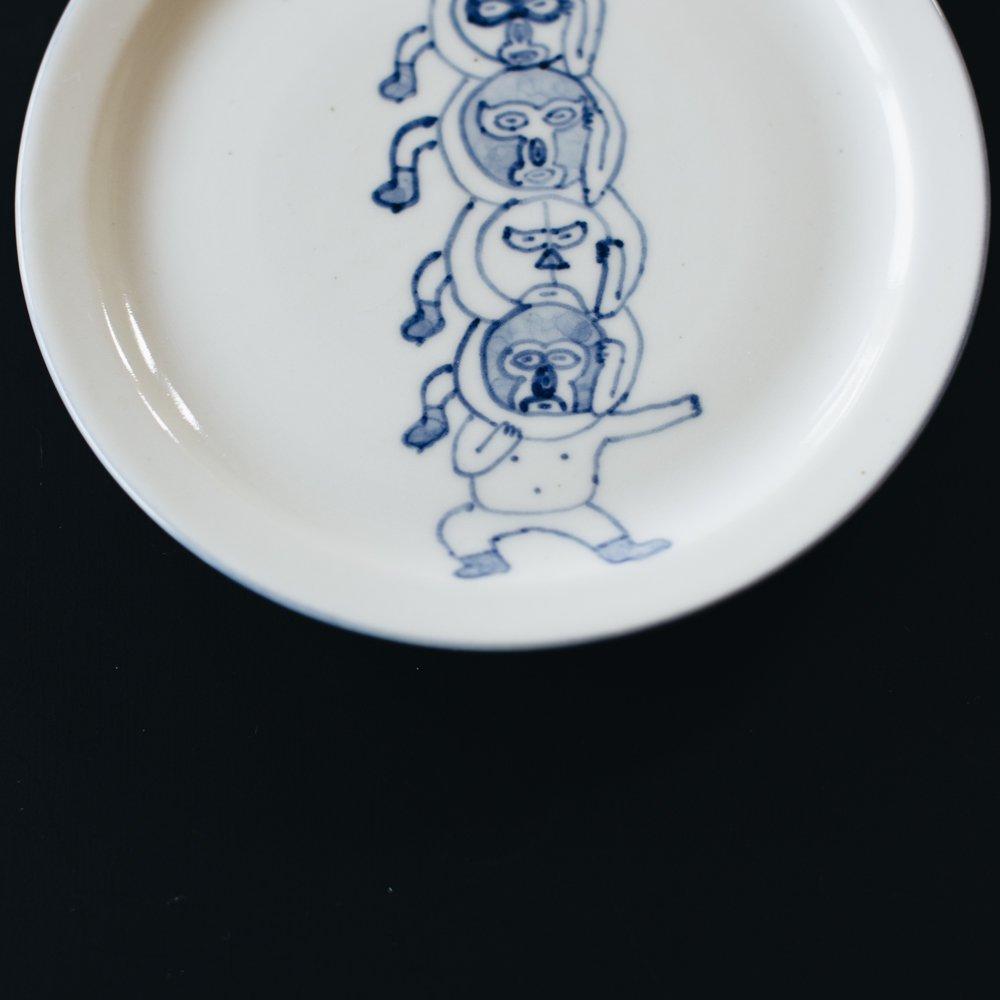高橋直樹 プロレス皿『みんなでチョークスリーパー』10