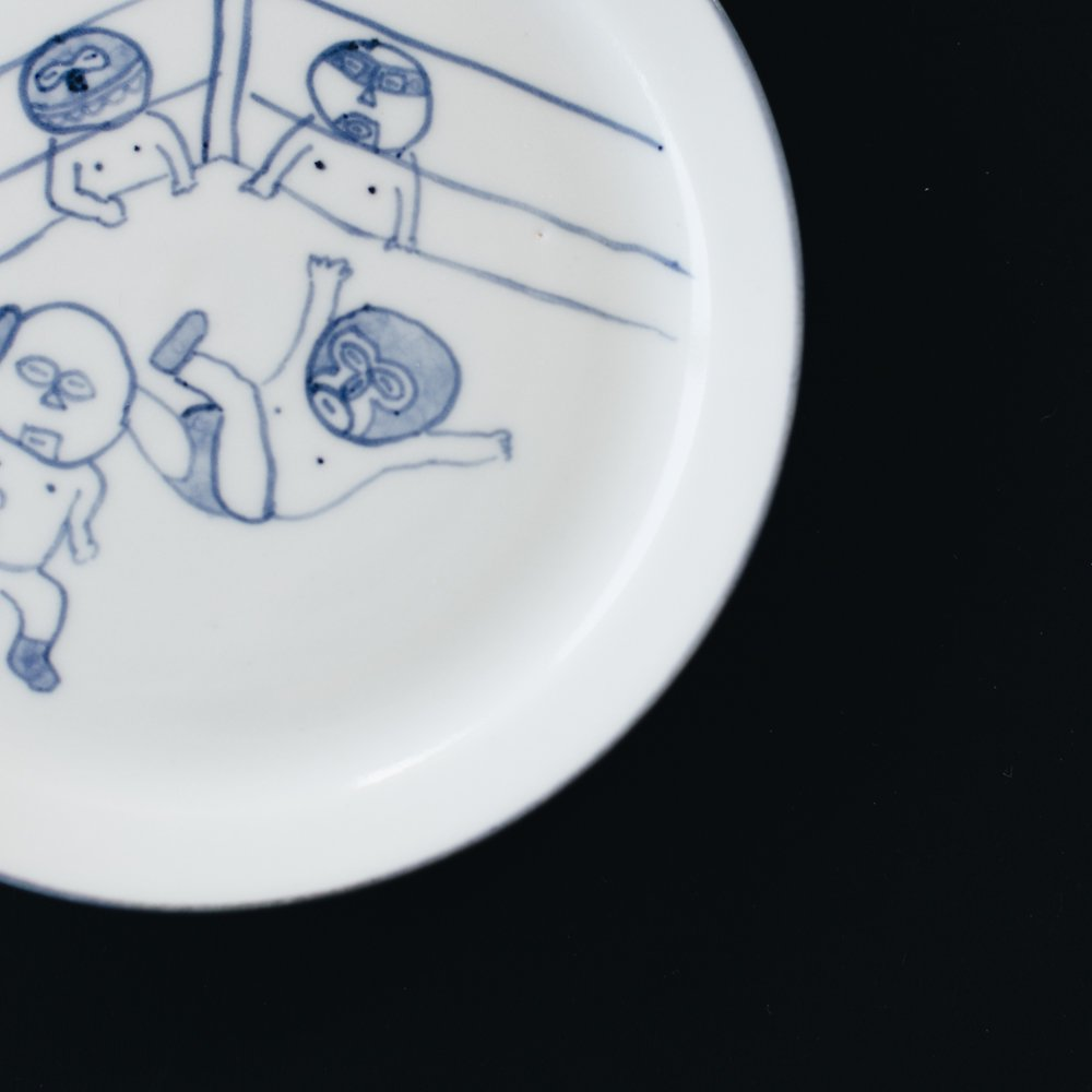 高橋直樹 プロレス皿 『延髄蹴り』12