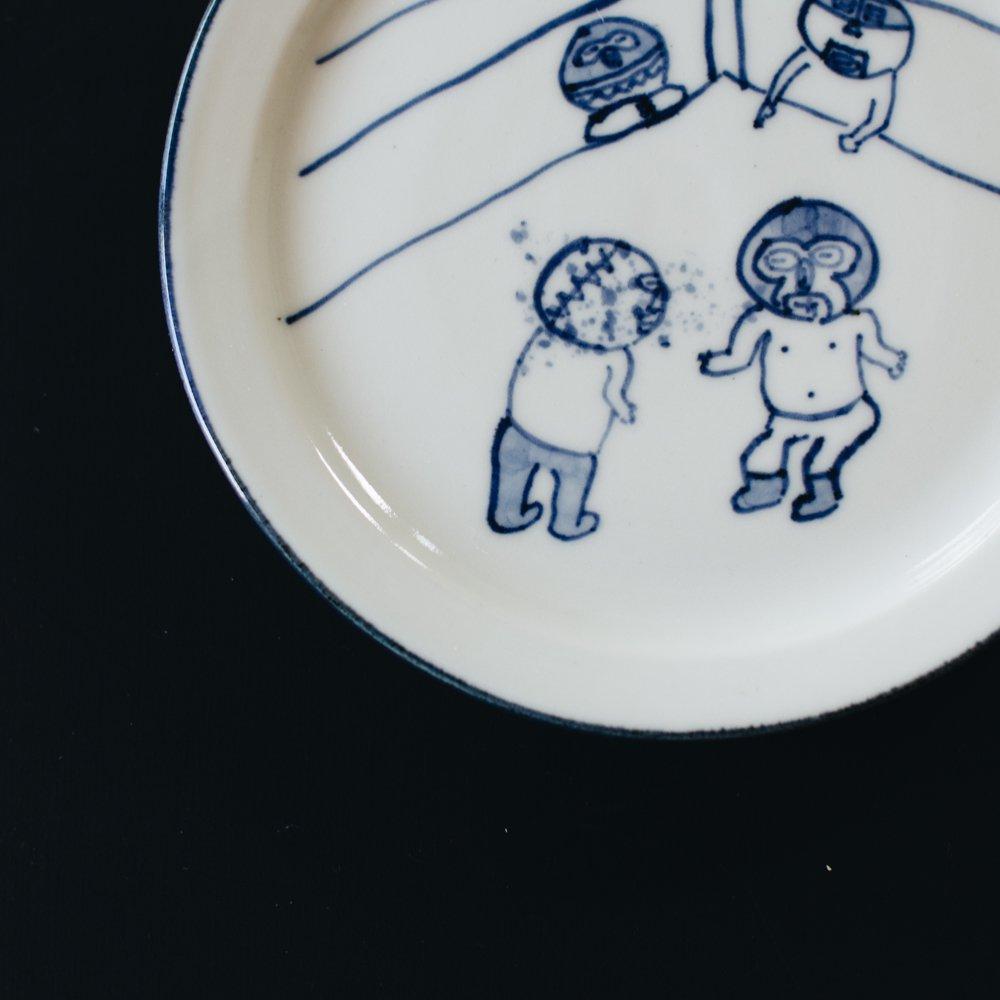 高橋直樹 プロレス皿 『毒霧』14