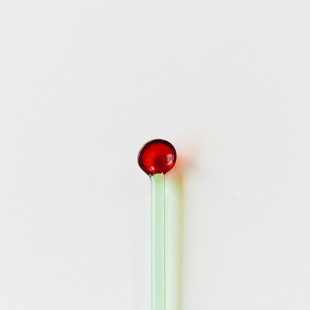 (2020年8月)kanamitakedaceramicsマドラー(赤/緑)K1