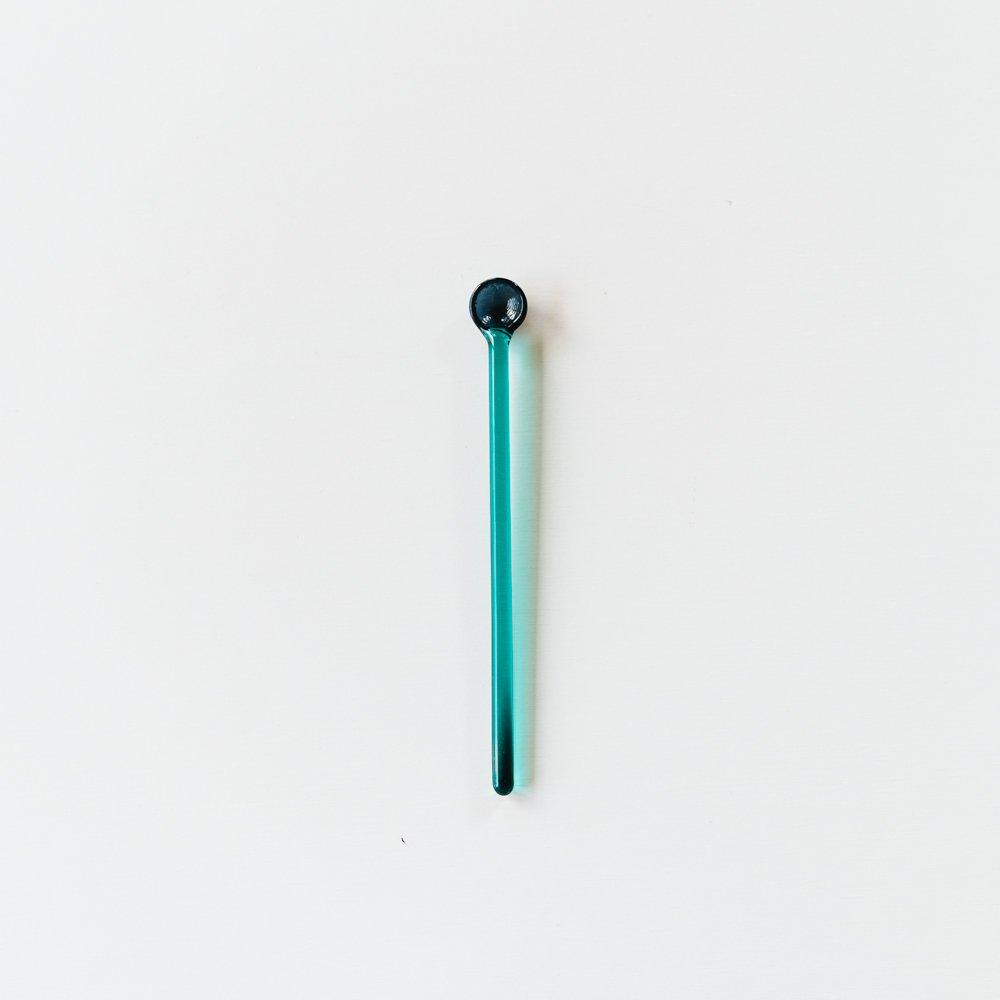 (2020年8月)kanamitakedaceramicsマドラー(ブルー/エメラルド)K4