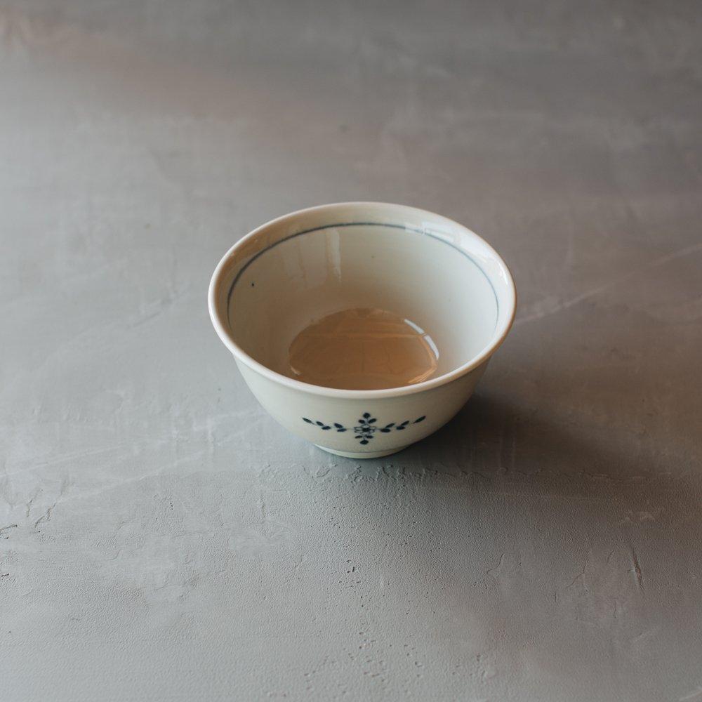 志村和晃 染付花十字文丼 15