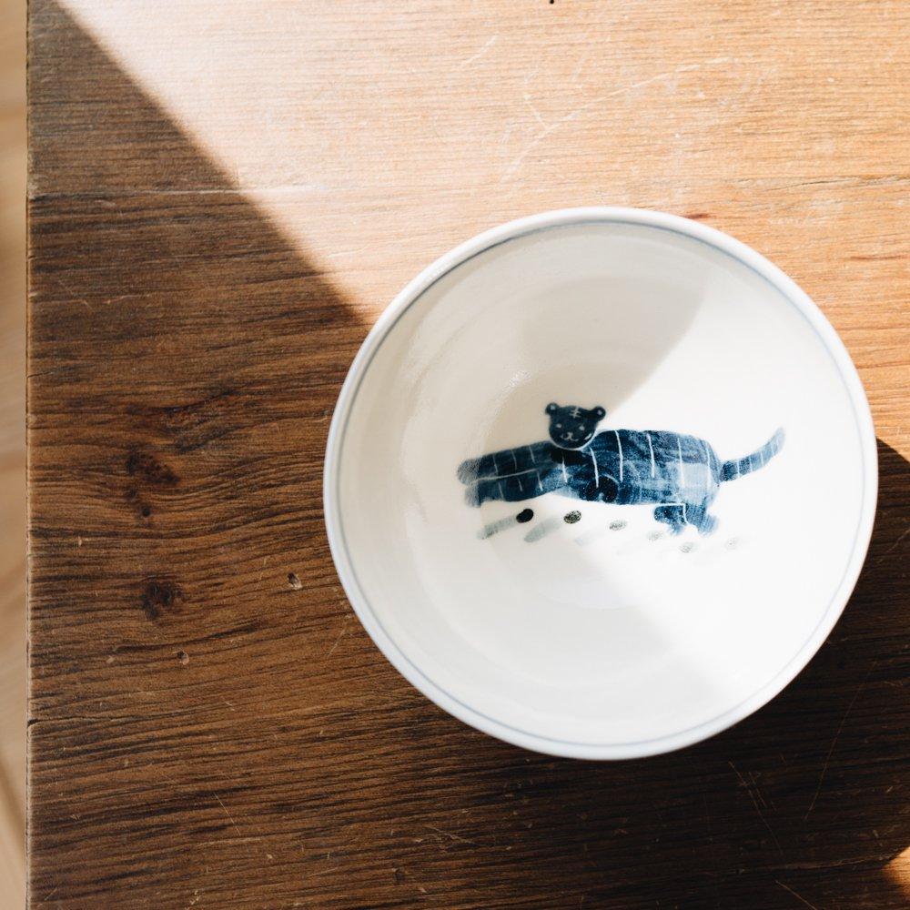 川原れもん 飯碗 トラ 16