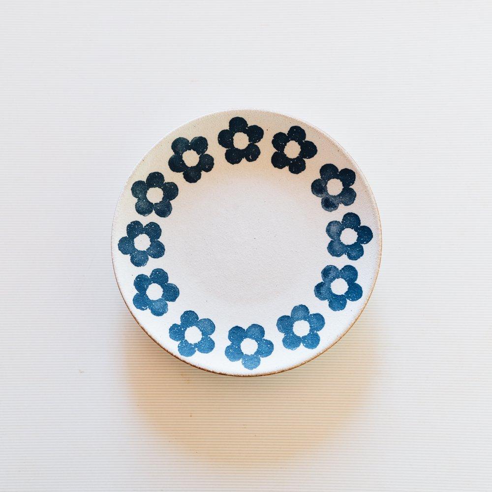 (2021年5月)東原窯 化粧小花5寸皿